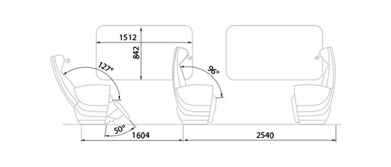 Схема мест в вагоне № 1