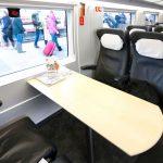 Кожаные кресла в вагоне бизнес-класса
