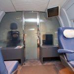 Стеклянная дверь между секторами в вагоне № 4