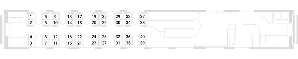 Схема вагона-бистро (№ 5)