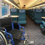 Места 59 и 60 для инвалидов в вагоне № 6